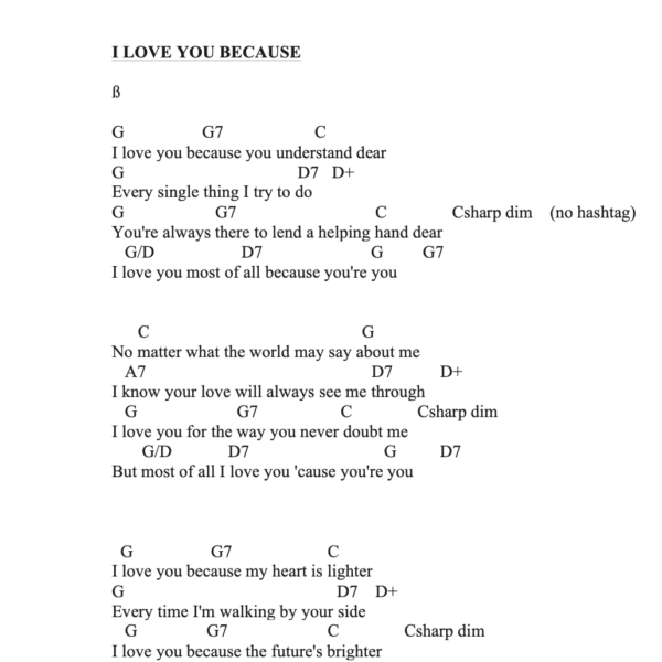 Preview of Music - I Love you because you're you