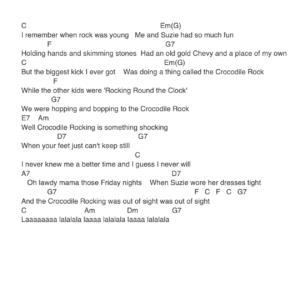 Preview of Music - Crocodile Rock