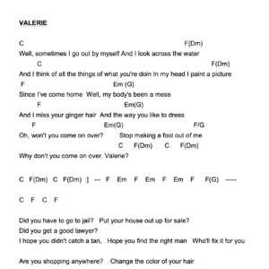 Preview of Music - Valerie