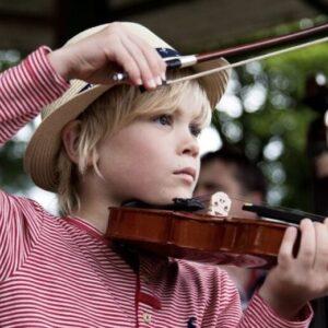 Isaac Playing Violin