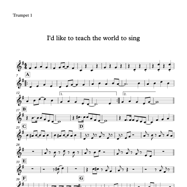 Preview of Music - I'd like to teach the world to sing